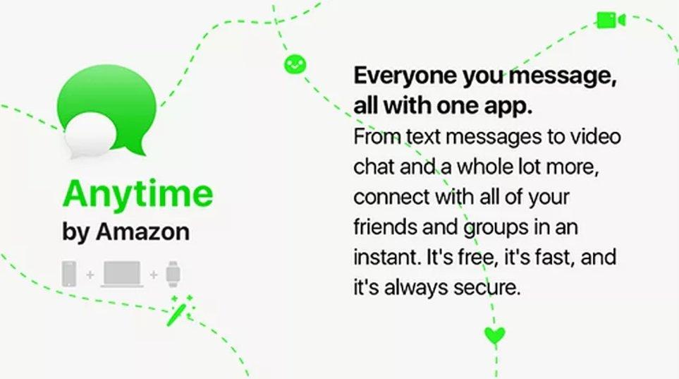 Anytime : l'apps de messagerie d'Amazon ?