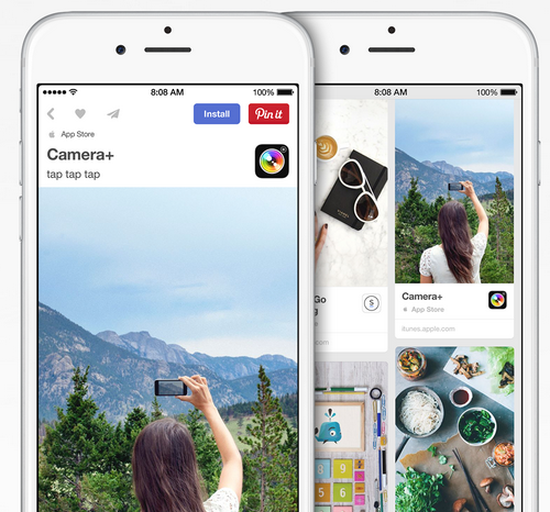 Pinterest se lance dans l'App Install