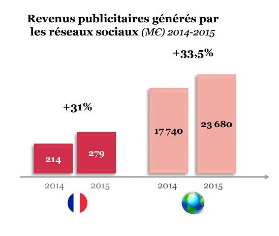 Etude SRI 2015 progression de la publicite sur le social media