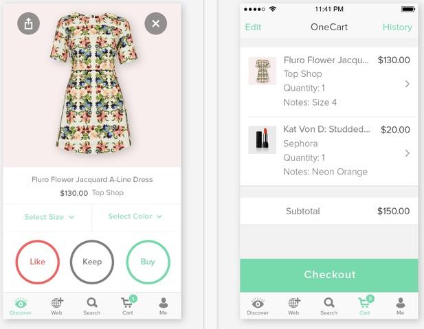 Onecart par Keep : Un panier universel pour les sites d'E-commerce