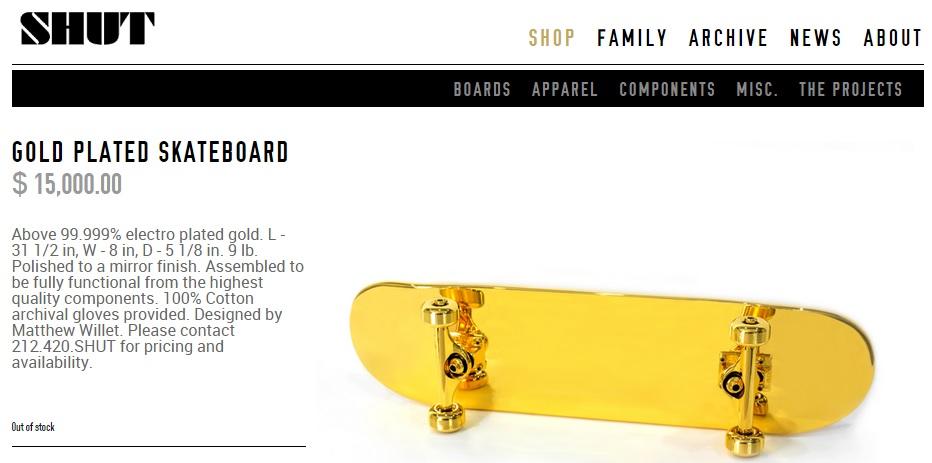 Tendances 2015 consommation post démographique le skate board en or de shut