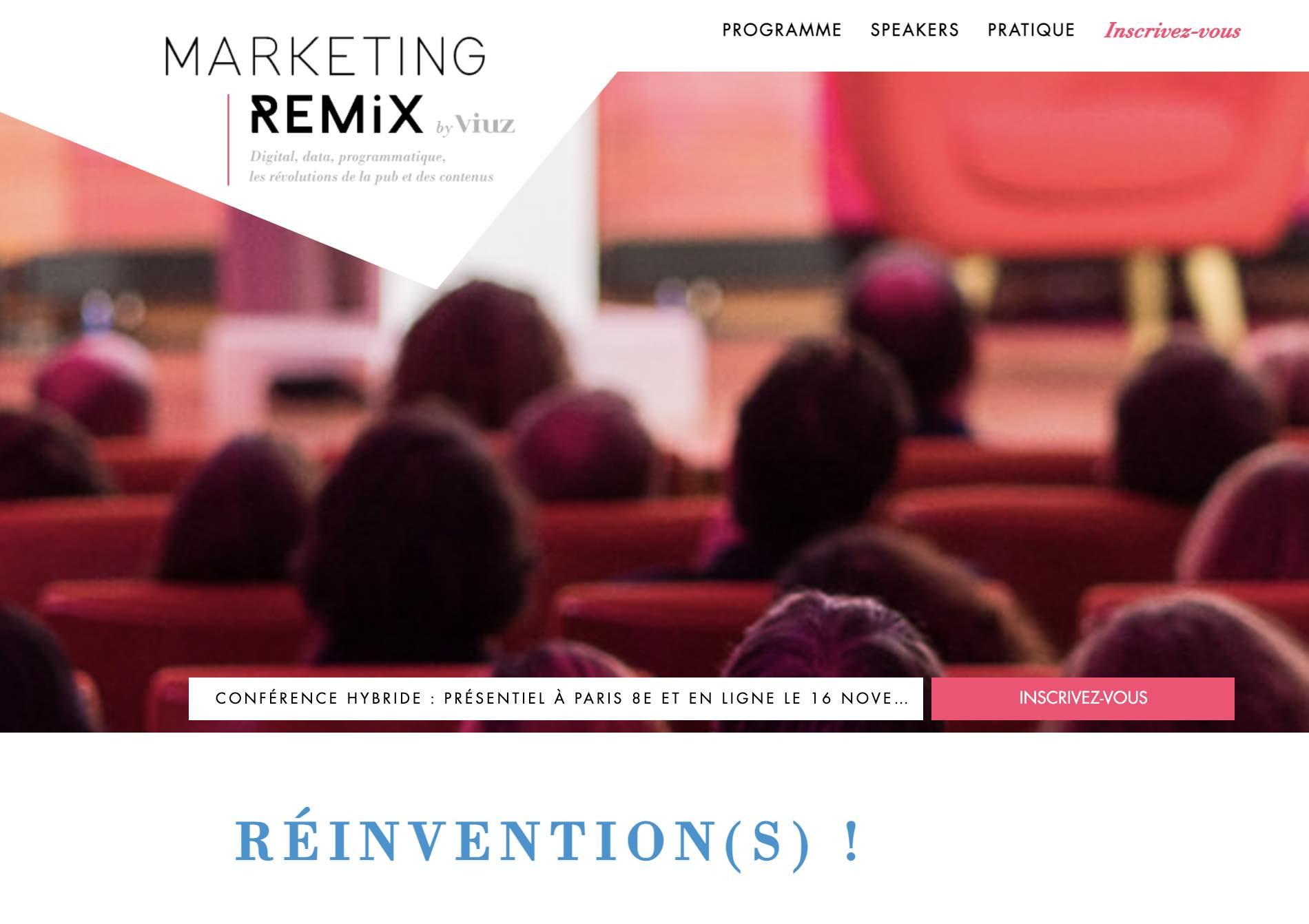 Marketing Remix le 16 novembre : demandez le programme !